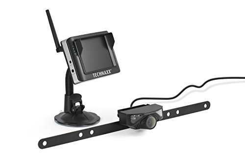 Technaxx 4673 Kabelloses Auto-Rückfahrkamera-System mit LCD Monitor TX-90 schwarz