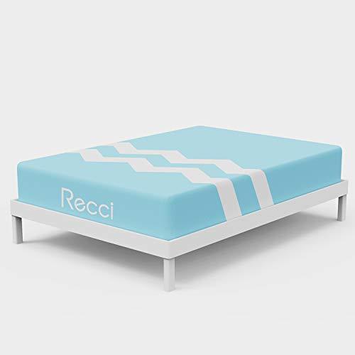 RECCI Hochwertige Schaum Matratze 90x200, Öko-Tex Zertifiziert, Härtegrad H2 & H3, Memory Foam Liegegefühl, Schaummatratze mit sanfter Stützung, angenehm kühles Schlafklima [ 90 x 200 x 20cm ]