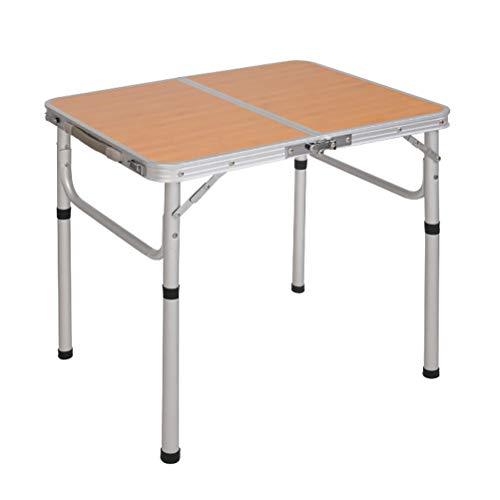 YPOD Zusammenklappbarer Gartentisch, Starke Tragfähigkeit Ausklappbarer Picknicktisch, Camp-Tische Tragbar Klappbar Für Campingcamping Im Freien(Color:TRZ)