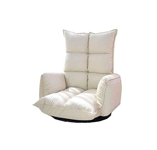POUPDM Einzelsofa Verstellbarer Drehstuhl Sofa 360 Grad drehbarer moderner Schlafzimmerrückenlehne Klappstuhl, C2