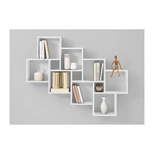 FMD möbel Liberty B10 Mensola, 94,5X15,7X120,8 H cm, Bianco, Nobilitato