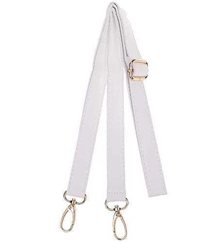 Wento 1pcs 41''-47'' Soft Faux Leather Straps,Adjustable Bag Straps,Soft Shoulder Straps,Replacement Cross Body Purse Straps/Wallet Straps WT0338 (White)