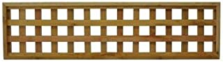 45.75 In. X 12 In. Checkerboard Pattern Western Red Cedar Color Framed Lattice Wood Security Fence Panel (2-pack)
