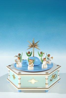 Rudolphs Schatzkiste Spieldose mit Engelkapelle, 28.stimmig Höhe ca 20 cm NEU Spieluhr Musikdose Seiffen Erzgebirge