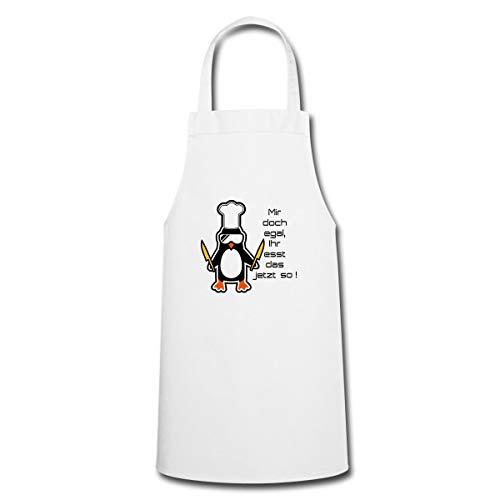 Ihr Esst Das So Pinguin Kochmütze Lustiger Spruch Kochen Kochschürze, Weiß