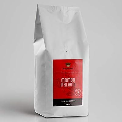 Brown Bear Mambo Italiano Espresso Blend, Dark Roast, Coffee Beans, 1 kg, Strength 5