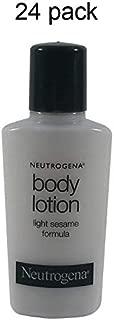 Neutrogena Body Lotion 0.9 oz travel size bottles -Lot of 24 each - Total of 21.6 oz