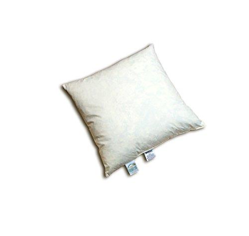 """beties """"Publik"""" Federkissen 45x45 cm (echte Federn) vielfältige Größen und Füllmengenauswahl, waschbar traditionell gefertigt Farbe Creme"""