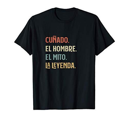 Cuñado el Hombre Mito y Leyenda Divertido Personalizado Camiseta