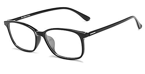 Ardermu Gafas Anti Luz Azul - Gafas de Computadora - Sin Aumento Lentes Antideslumbrantes Anti Ultravioleta - Gafas Anti Fatiga Ocular - Equipo Esencial Para Juegos Unisex y Elegante