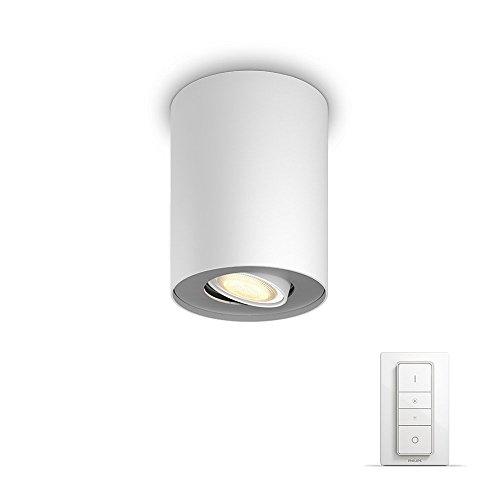 Philips Hue LED Spot Pillar inkl. Dimmschalter, dimmbar, alle Weißschattierungen, steuerbar via App, weiß, kompatibel mit Amazon Alexa (Echo, Echo Dot)