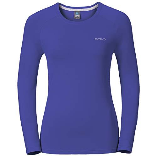 Odlo T-Shirt de Sillian à Manches Longues pour Femme XS, S, M, L, XL Spectrum Blue
