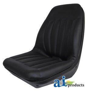 AI CS133-1V High Back Molded Dishpan Seat Black Case-IH 480B 580B 1190 1290 1390 Various Case-IH Skid Steer Loader Bobcat Clark Industrial Ford New Holland Gehl Melroe Tractor