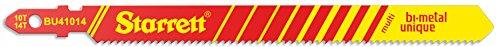 Starrett BU41014-5 - Cuchilla de sierra caladora multiusos (acero rápido HSS, bimetal, 5 unidades)