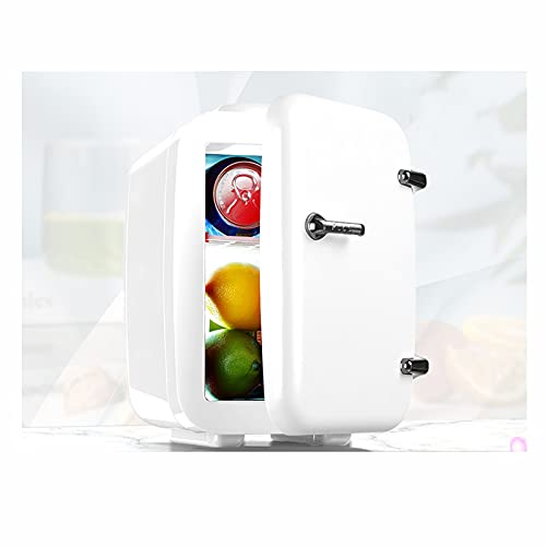 Frigorífico de Viaje Mini refrigerador Mini Caja de Fresco con función de vigilancia cálida 12 y 230 v 4 litros, para Comer, Dormitorio, Oficina, Viaje de automóvil