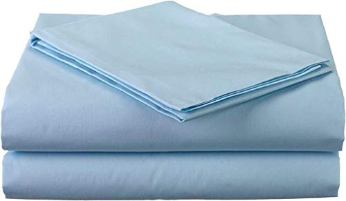 Crafts Linen California King, Light Blue Solid 100% Egyptian Cotton 4PC Sheet Set - 400 Thread Count -Deep Pocket fit Upto 15 inch Best Bed Sheets Soft & Silky Sateen Weave Long Staple Cotton