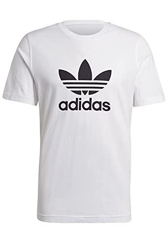 adidas Herren Trefoil T Shirt, Weiss Schwarz, M EU