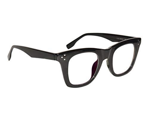 Peter Jones Unisex Anti Glare Square Nerdy Optical Frame (Large, Black)