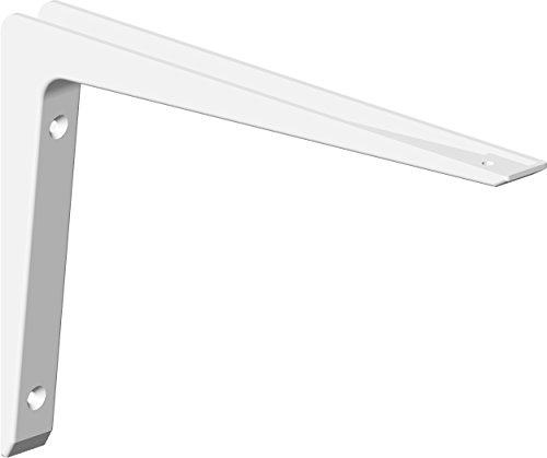 Element System 18133-00188 Alukonsole Bea/Regalträger / 5 Größen / 2 Farben / 2 Stück/weiß / 100 x 150 mm, 100x150 mm