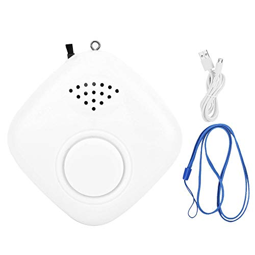 Qkiss draagbare USB-luchtfilter Negatieve ionenluchtfilters Hals Hangende luchtverfrissers voor het verwijderen van geuren en nevel, Mini-deodorant voor binnen Buiten Thuiskantoor Auto