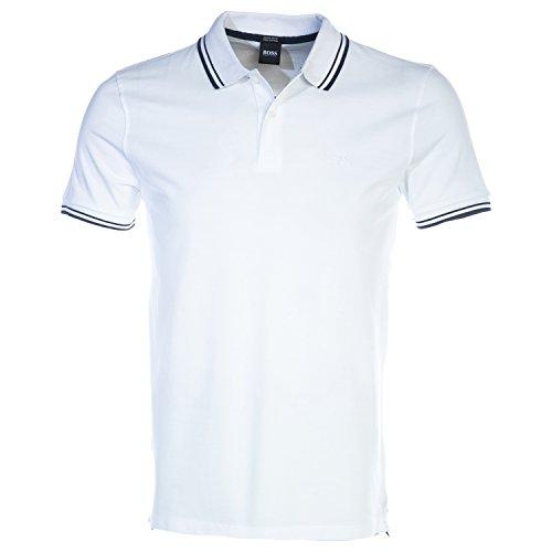 BOSS Hugo Herren Polo-Shirt T-Shirt, Größe: XXL, Farbe: Weiß