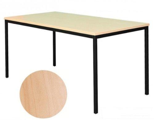 Schreibtisch Buche Dekor Profi Besprechungstisch Büromöbel Verkaufstisch Computertisch 140x60cm 331041