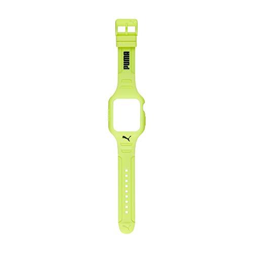 Puma - Correa de Poliuretano Amarilla Unisex de 44 mm para Apple Watch, PS8001