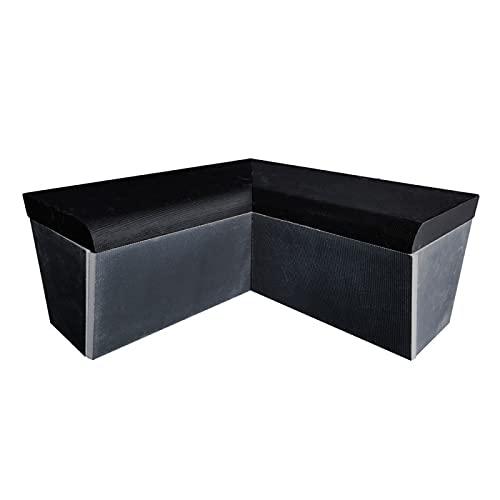 Desineo - Banco redondo con ángulo 2 x 1000 x 470 mm, listo para baldosas en XPS para montar para hammam cuarto de baño