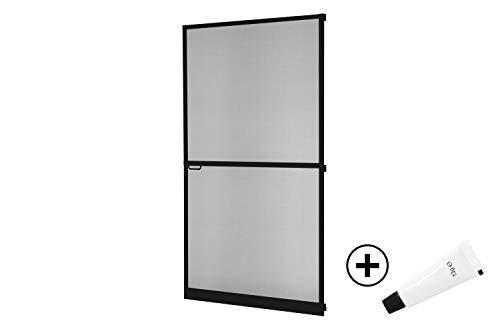 empasa Insektenschutz Fliegengitter Tür Alurahmen Master SLIM PLUS mit Scharnierkleber weiß, braun oder anthrazit 100 x 210 cm