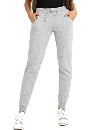 Pantalones de chándal para mujer, de forro polar suave con puños, ajuste ajustado, forro polar, para mujer, pantalones de chándal para mujer, talla 36 a 16