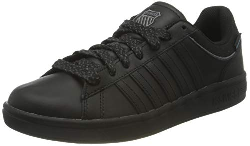 K-Swiss Herren Court Hydro Sneaker, Black/Black/Charcoal, 43 EU