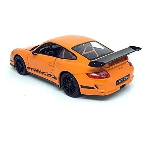 Miniatura Porsche 911 Carro Gt3 RS Laranja Metal Com Abertura das Portas Escala 1/43