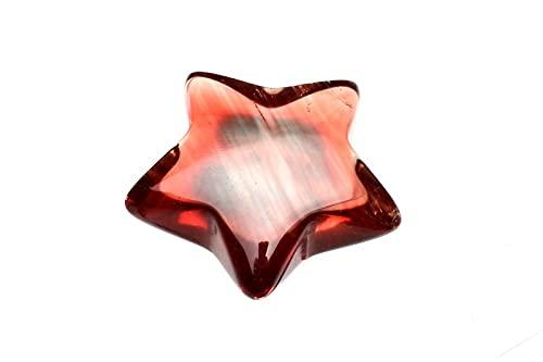 【 福縁閣 】【1点物】 透明 アンデシン 10mm スター 星 ルース_P6417 天然石 パワーストーン ビーズ