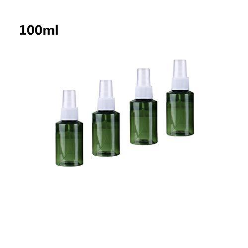 Ssowun 100ml Flacon Pulvérisateur en Plastique, 4 Pièces Bouteille de Voyage Portable Vide Flacon Parfum Réutilisables pour Parfum Cosmétique Liquide