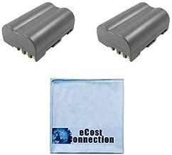 2 Replacement EN-EL3E Batteries for Nikon DSLR D300, D700, D90, D70 &More Cameras Lithium Ion and an eCost Microfiber Cloth