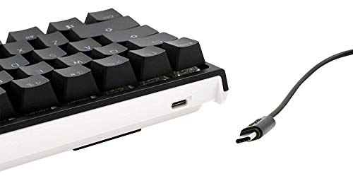 DuckyOne2ミニRGBチェリーMXスイッチPBTキーキャップ60%RGBメカニカルゲーミングキーボード(CherryMXRed)
