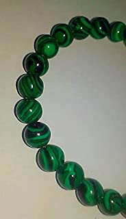 JEWEL BEADS Beautiful jewelry AAA++ Quality Simple Green Malachite Stretch Bracelet, gemstones, beaded bracelets, men's, women's, minimalist, stackable, inexpensive gift, 8mm stones Code- AU-4131