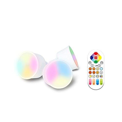 iHomma GU10 Bombilla LED 6W Regulable,2700~6500K,RGB Multicolores,Bluetooth APP Control, Equivalente a bombilla halógena 50W, ,350 Lúmenes