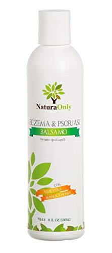 Acondicionador Eczema & Psoriasis Natura Only: sin sulfato, calmante, cicatrizante, anticaspa, escamoso, con picazón, tratamiento del cuero cabelludo seco para la dermatitis seborreica, hi