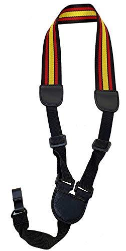 Correa para ukelele estilo cuello ajustable ROCKYOU S001-3 modelo España. Con pinza sin botón de enganche, sin tornillos, manos libres