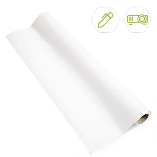 Smart Whiteboard- und Leinwandtapete 5m² Weiß - Beamer Whiteboard - beschreibbare Wand