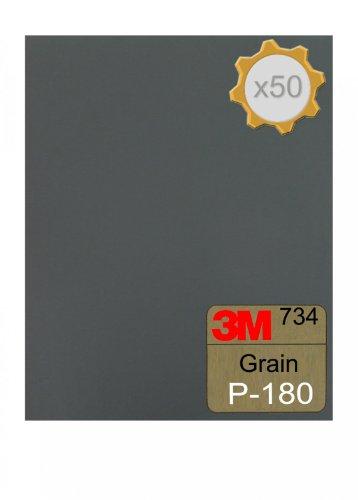 Feuille abrasive 3M 734 à l'eau 230x280 Grain 180 x 50