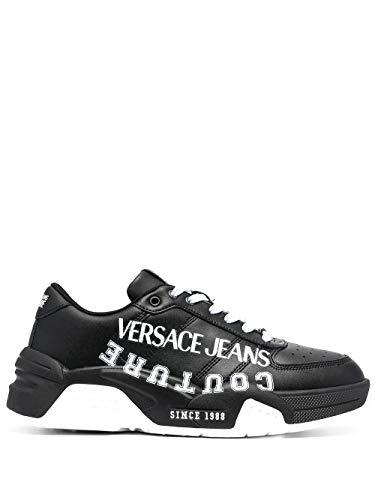 VERSACE JEANS COUTURE E0YWASF371987 899 - Zapatillas deportivas para hombre, color negro Negro Size: 40 EU