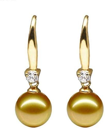 JLXQL Ornaments Sculpture Mother of Pearl Gold Pearl Earrings Silver Earrings Wild Female Earrings Craft Gifts