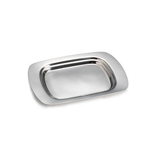 IMEEA Mantequillera de acero inoxidable 18/8 para servir man