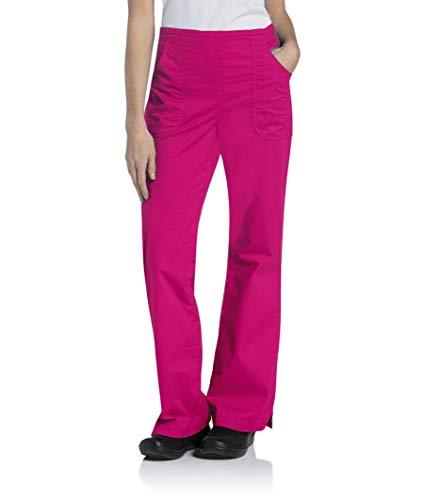 Landau Women's Standard 2 Pocket Elastic Waist Stretch Cargo Scrub Pant Uniform, Primrose, Small Tall