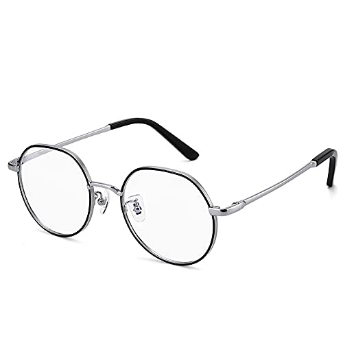 CAOXN Gafas De Lectura Multifocales Progresivas Inteligentes para Hombres Gafas De Sol Polarizadas con Lentes De Resina Fotocromática Antirreflejos para Exteriores,Plata,+2.00