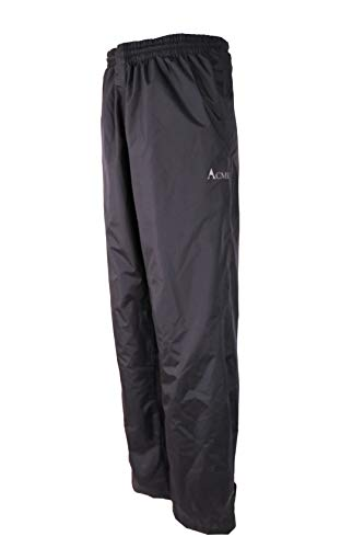 Acme Projects Pantalones para Lluvia, 100% Impermeables, Transpirables, con Costura, 10000 mm   3000 g (Hombres, medianos, Negros)