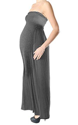 Momo&Ayat Fashions dames Jersey moederschap Bandeau Boobtube Sheering Maxi jurk Britse maat 8-26