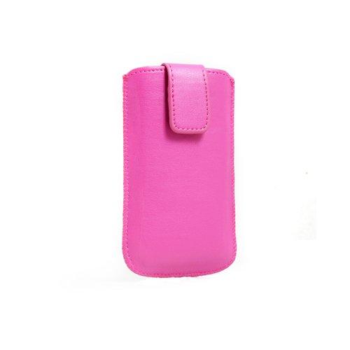 System-S Tasche Etui Sleeve Hülle Hülle mit Rückzugfunktion Ausziehhilfe in Pink für Motorola RAZR V3 RAZR2 V8